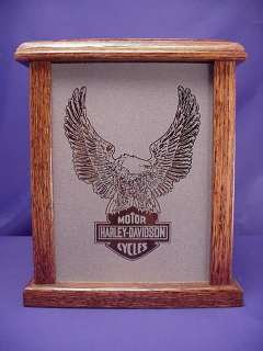 Motorcycles Eagle Logo Etched Glass Mood / Accent Light Box Gift