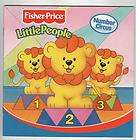 NUMBER CIRCUS Fisher Price Little People Kids Book ~Make Your Own Lot
