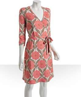 JB by Julie Brown pink floral jersey wrap dress