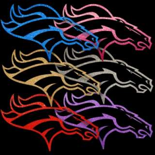 Pair   Broncos 6 Auto Window Stickers or Sign Decals