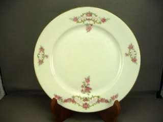 Eamag Bavaria Salad Plate Pink Roses Gold Trim VGC