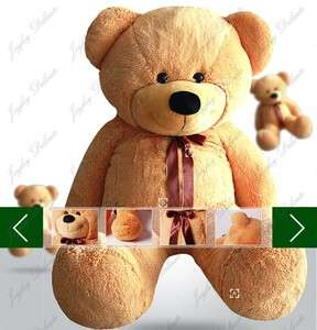 GIANT HUGE FAT 63 BROWN TEDDY BEAR STUFFED PLUSH TOY