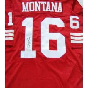Joe Montana San Francisco 49ers Autographed Authentic Style Red Jersey