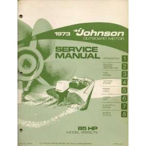 1973 Johnson Outboard Motor Service Manual for 85 H.P. Motors