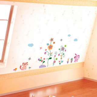 FLOWER POPPY WALL DECAL REMOVABLE MURALS STICKERS #311