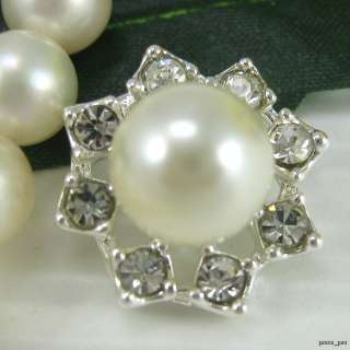 Sparkling Crystal Rhinestone Pearl Buttons #S388
