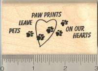 Pets Leave Paw Prints dog cat rubber stamp G11006 WM