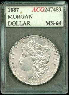 1887 P MORGAN SILVER DOLLAR~HIGH GRADE~BU~