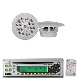 Pyle Marine Radio Receiver and Speaker Package   PLCD10MR