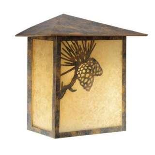 Pine Cone Outdoor Flush Mount Wall Lamp Lighting Fixture Bronze