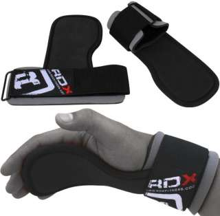 RDX Gel Weight Lifting Training Gym Grips Straps Gloves